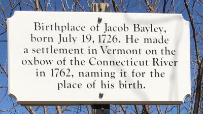 Gen. Jacob Bayley birthplace