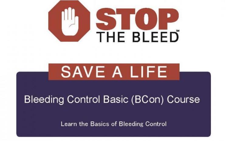 Stop the Bleed flyer
