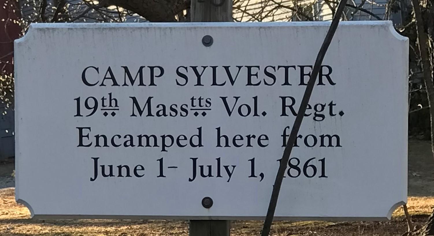 Camp Sylvester Sign